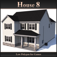 Low Polygon House 8