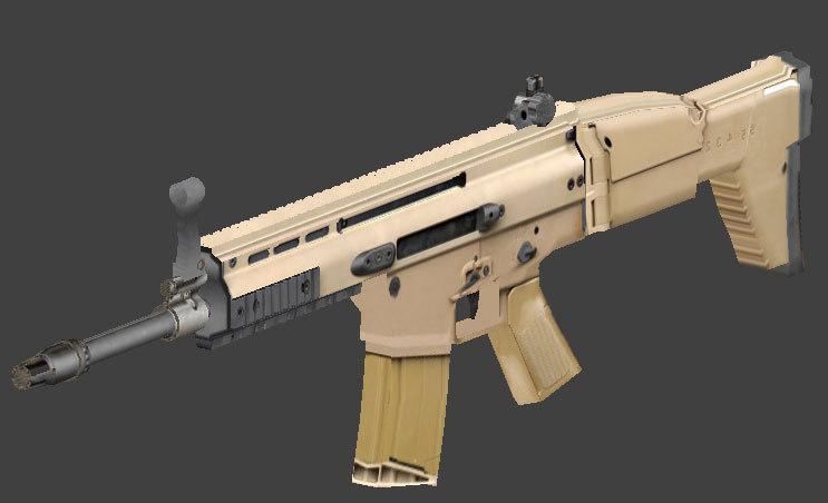 3d model machine guns