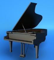 3d concert piano model