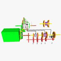 3d model transmission motor ic