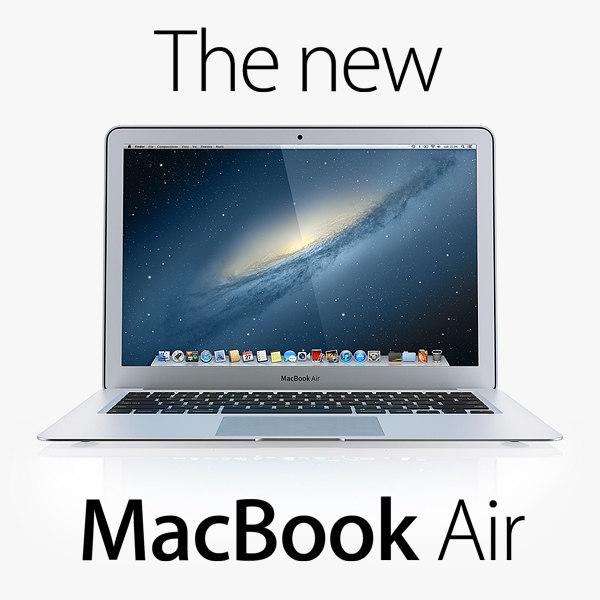 new macbook air 2013 3d model