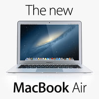 3d model new macbook air 2013