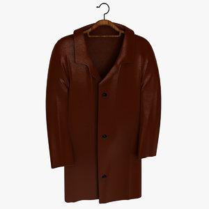 3d model overcoat t coat