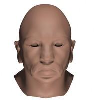 3ds max male head mesh base