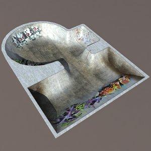 3d model skate modelled