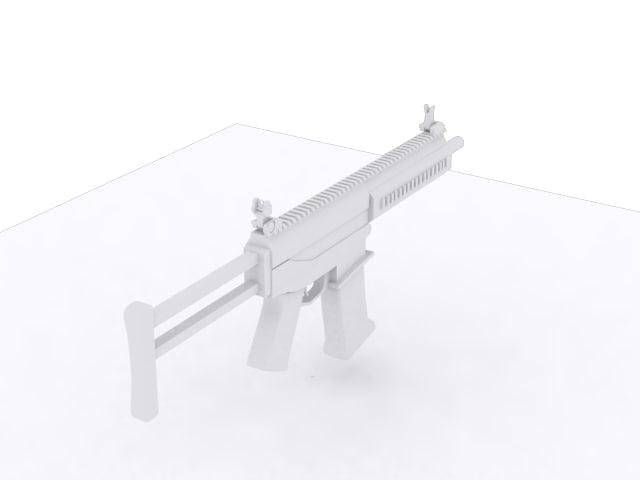 free gun 3d model