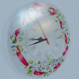 wall clock flower design 3d model