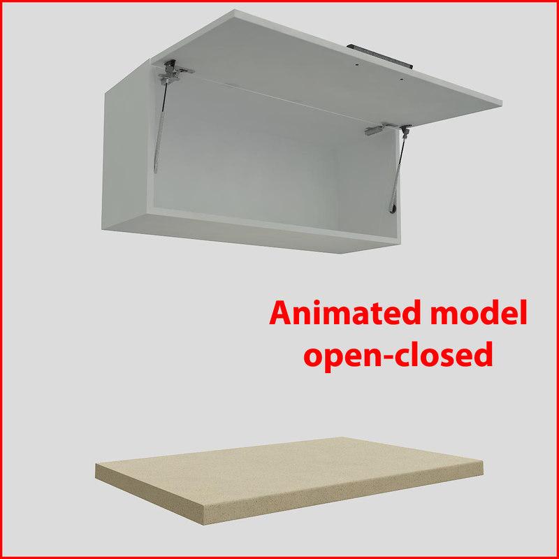 kitchen furnitures 90 cm 3d model