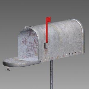 3d model mail box mailbox