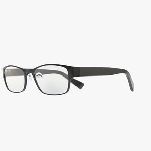 3d eyeglasses glasses accessories model
