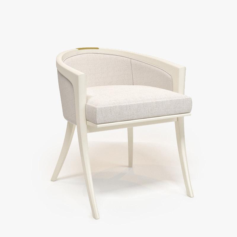 baker diana vanity chair 3d model