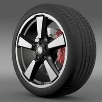 porsche 911 50yeareditions wheel 3ds
