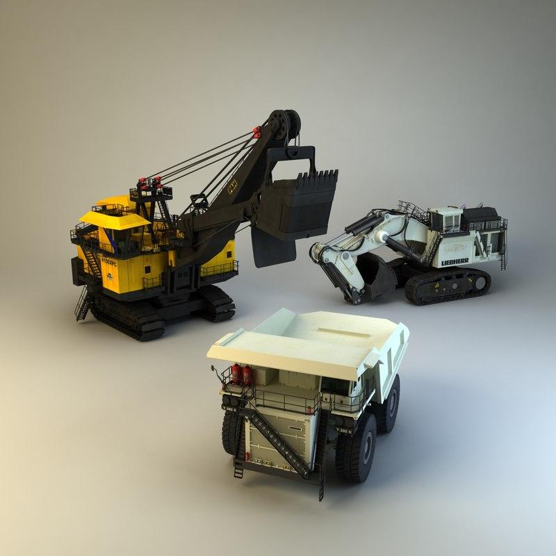 3d mining vehiles model
