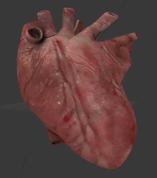 blender heart beating