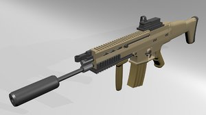 fabrique fn scar h 3d model