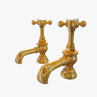 brass victorian taps 3d model