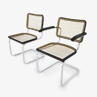 3d model 2 cesca chair