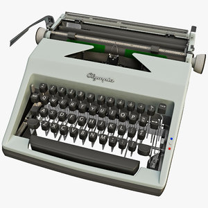 vintage typewriter olympia 1964 3d 3ds