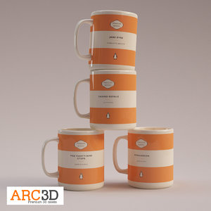 3d model interiors penguin classics coffee mugs