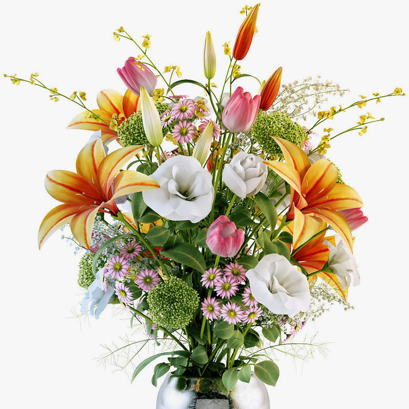 3d flowers bouquet