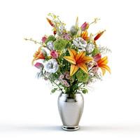 3d flowers bouquet