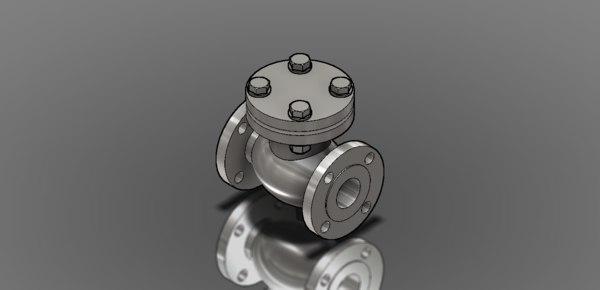 check valve 3d 3ds