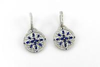 3d model sapphire drops earring gems
