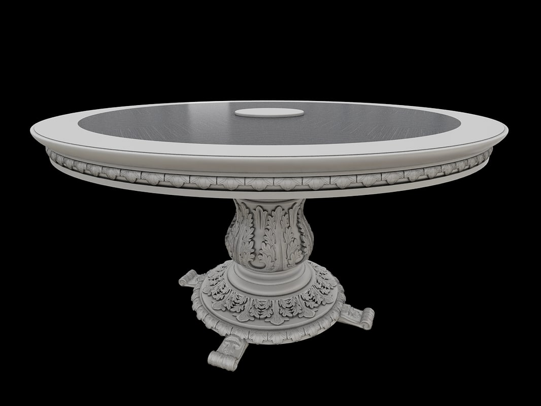 3d model of classical table
