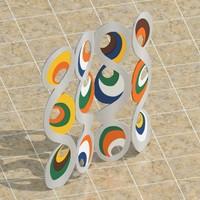 paravan colorfull 3d model
