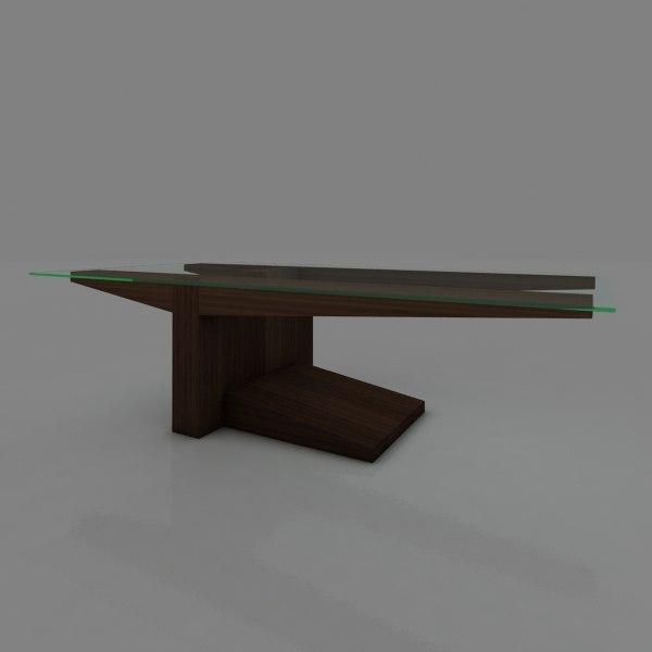 3d wood table dinner