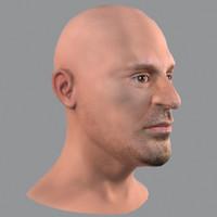 realistic male head 3d model