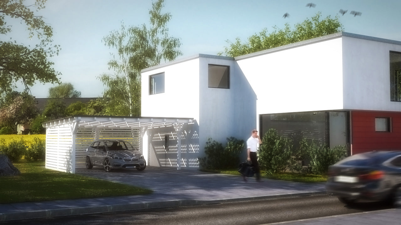 modern residential 3d 3ds
