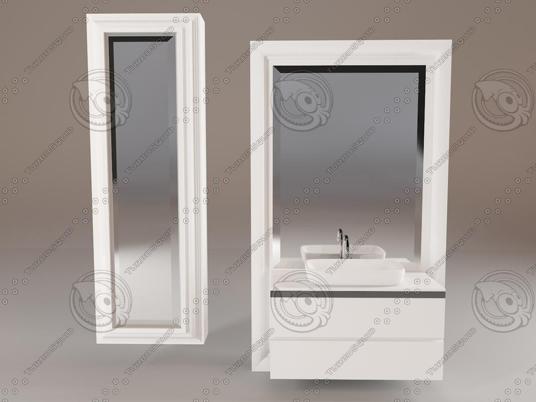 3ds max mobile sospeso lavabo globo
