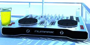 3d model of numark synth mixer