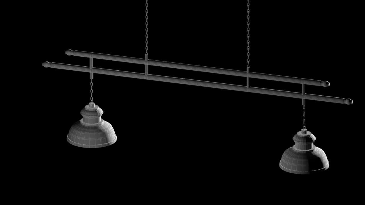 free billiard lamp 3d model