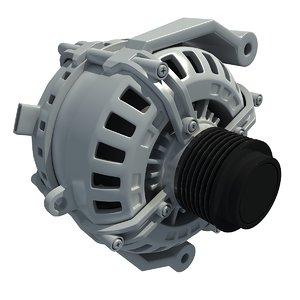3d model engine alternator