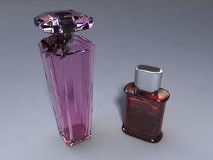 perfume bottle set 3d model