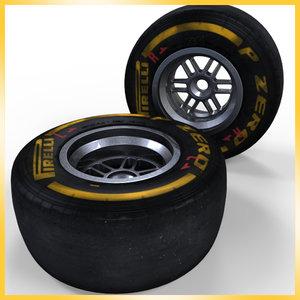 2013 formula 1 pirelli 3d model