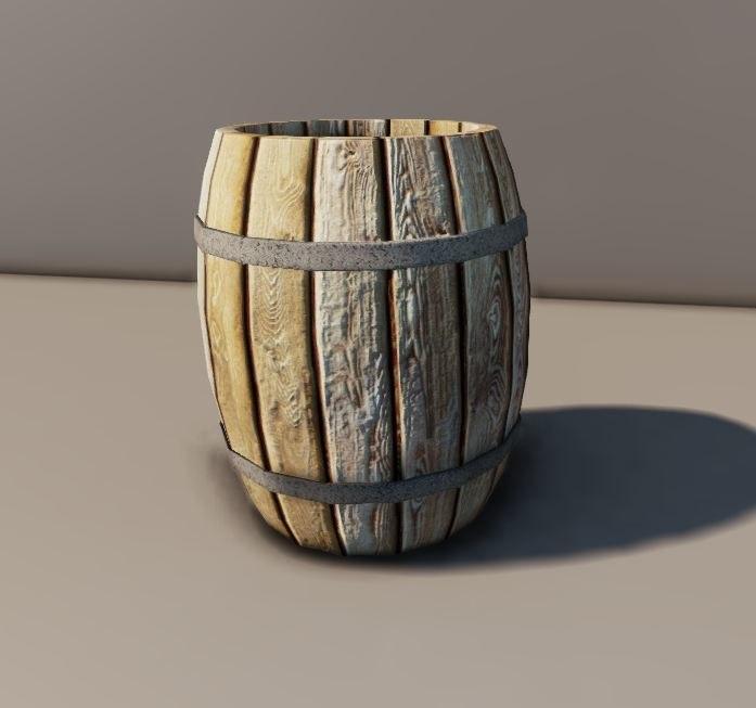 3d en barrel model