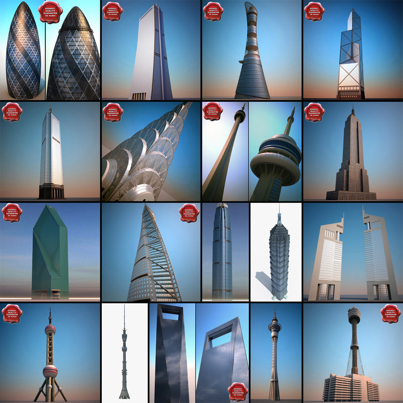 3ds max skyscrapers v6