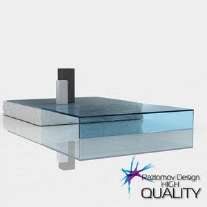 modern table terraliquida italia 3d model