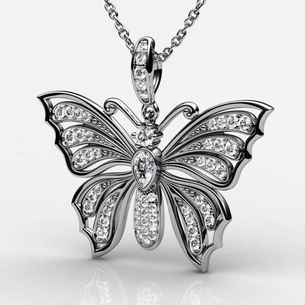 butterfly gold 3d obj