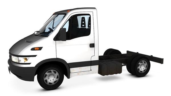 3d model of chassis cab van