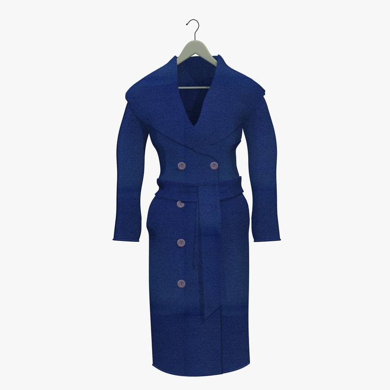womans blue coat hanger 3d obj