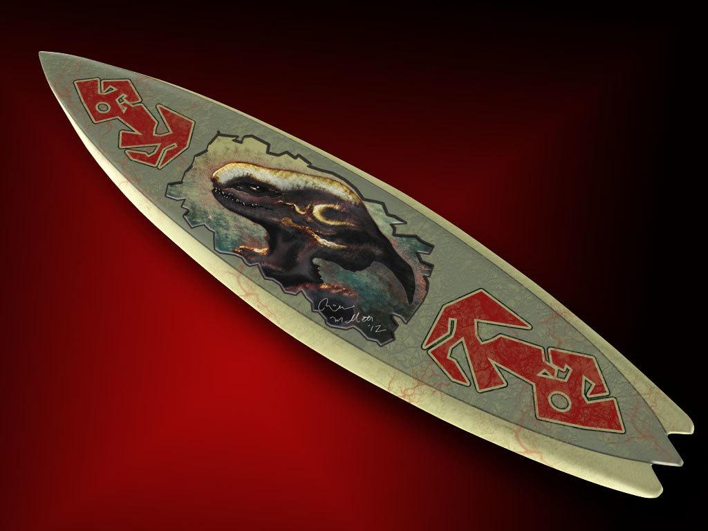 finless surfboard alien max