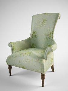 classic armchair fbx