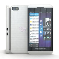 3d blackberry z10 white cellphone model