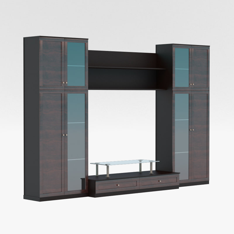 3ds max cabinet living room