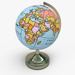 basic globe 3ds free