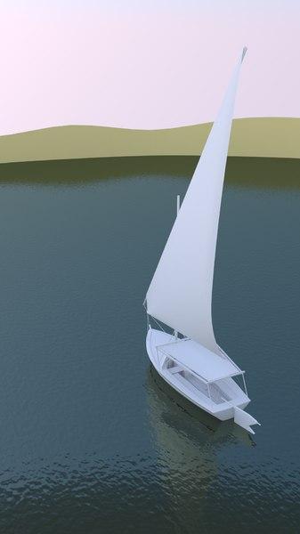 3d model sailboat felucca